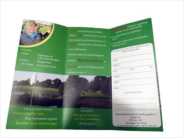 21 Golf Tournament Brochures Sample Templates