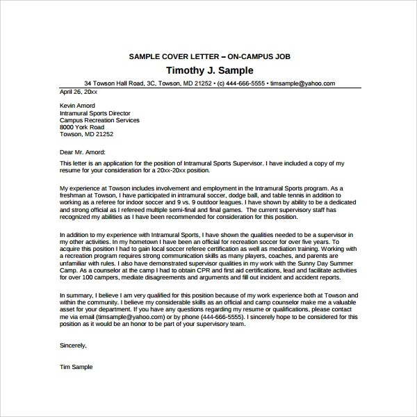 Camp counsellor cover letter sample  proquestvoguexfc2com