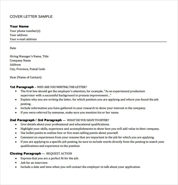 Sample Director of Operations Cover Letters  8 Free Documents in PDF
