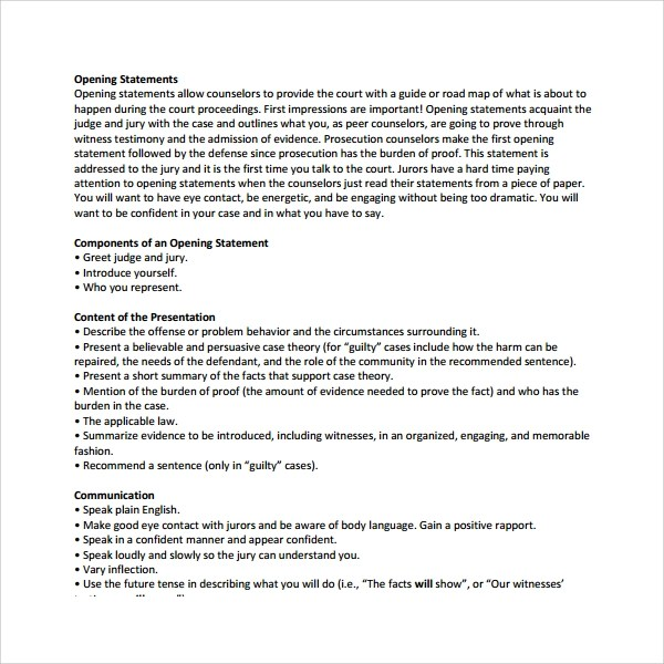 Opening Statement For Resume] Resume Opening Statement The ...
