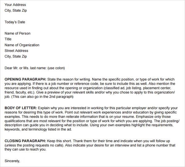 Cover Letter Basic Resumes Templates