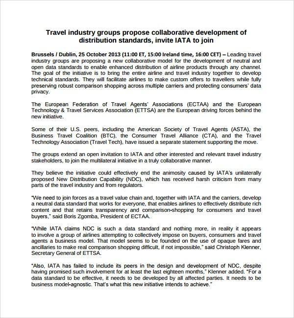 12 Travel Proposal Templates Sample Templates