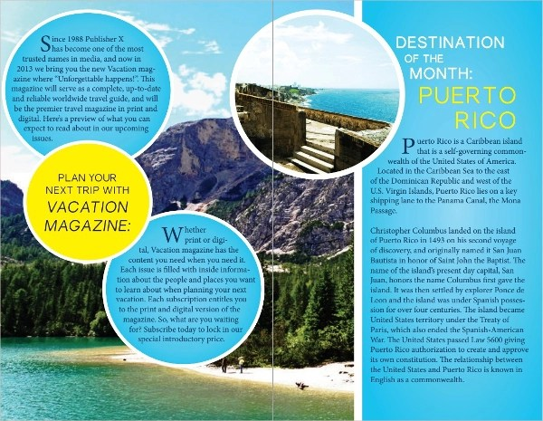 14 Vacation Brochure Templates Sample Templates