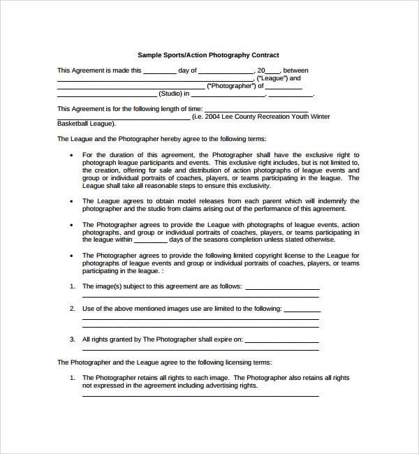 Sample Photography Proposal Template  15 Free Documents