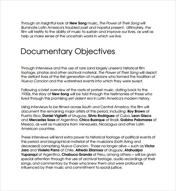 16 Film Proposal Templates – PDF Word Sample Templates