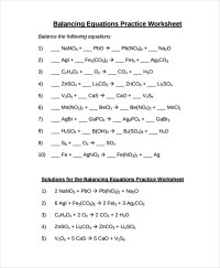 10+ Balancing Equations Worksheet Templates | Sample Templates