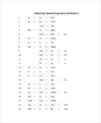 Sample Balancing Equations Worksheet Templates - 9+ Free ...