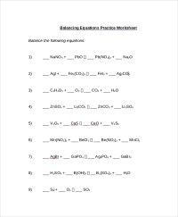 Balancing Equations Grade 10 Worksheet - algebra ...