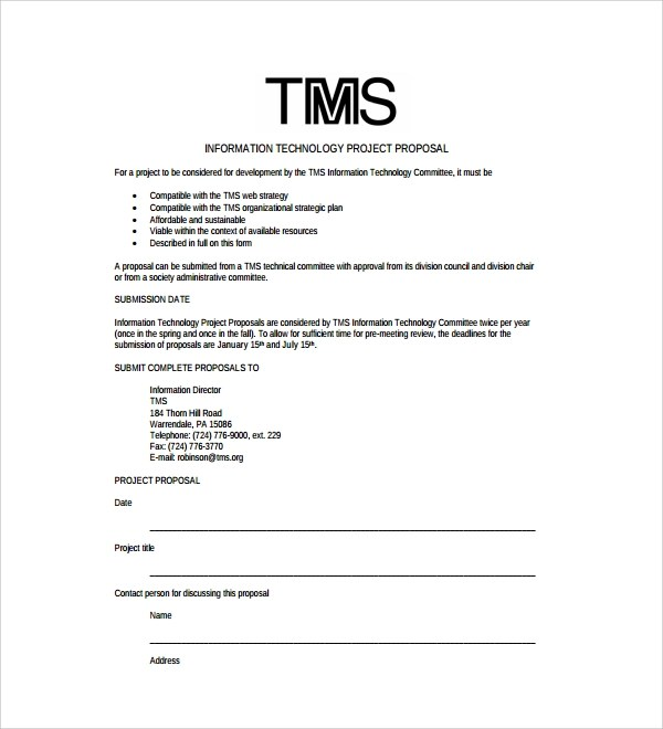 Sample Technology Proposal Template 9 Free Documents In