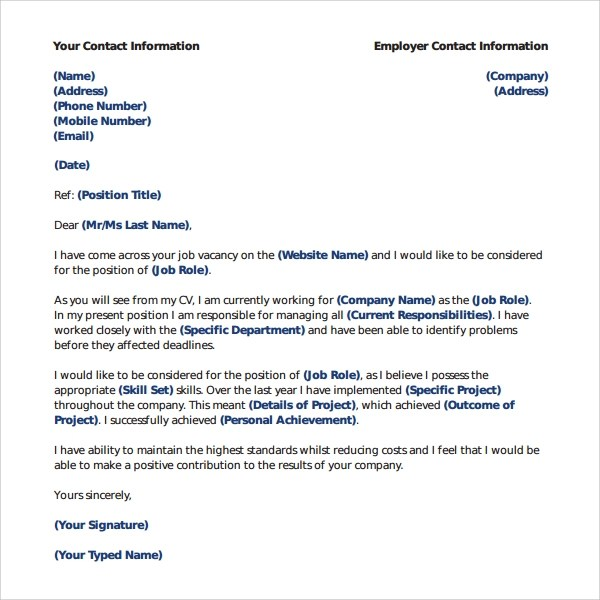 Sample Librarian Cover Letter  5 Free Documents in PDF Word