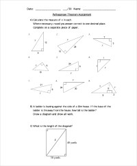 10+ Pythagorean Theorem Worksheet | Sample Templates
