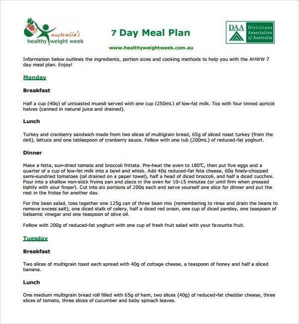 10+ Diet Plan Templates | Sample Templates