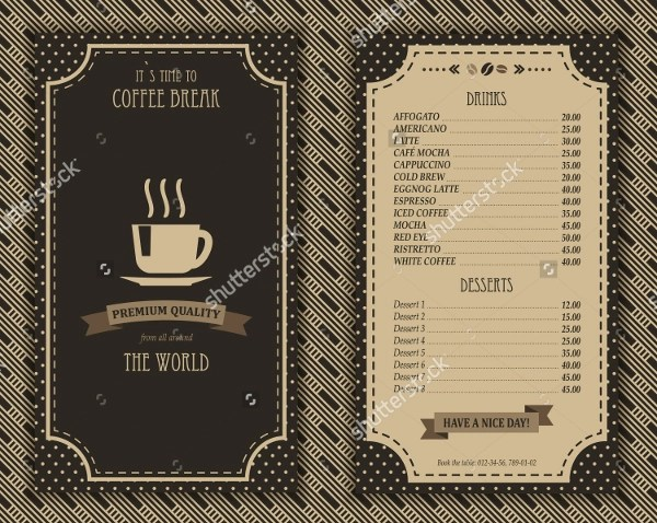 Coffee Shop Brochure Template  14 Download in Word PSD EPS