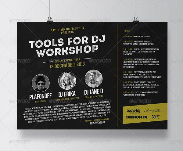 20 Workshop Flyer Templates PSD EPS Format Download