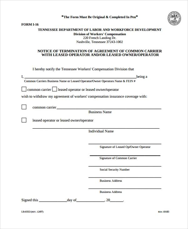 lease termination agreement samples
