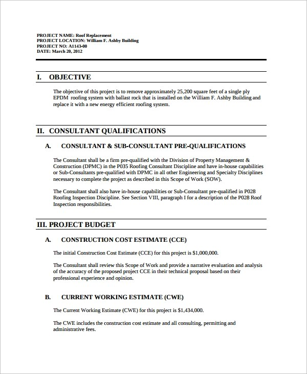 Roofing Contract Template 8 Doents In
