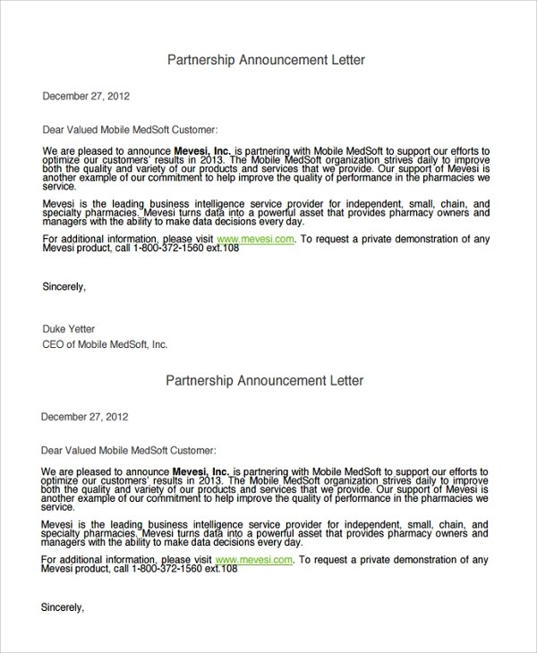 Open Enrollment Announcement Letter  Docoments Ojazlink