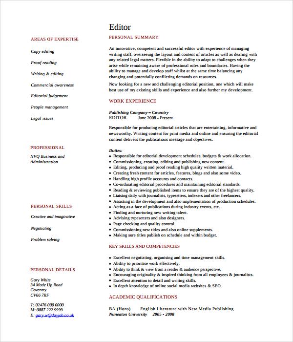 sample online resume html