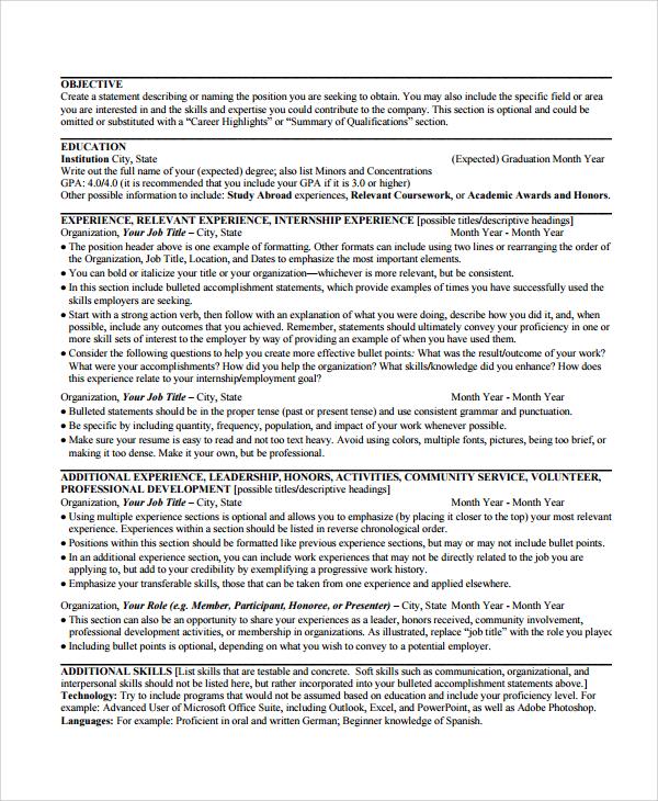 8+ Copy Editor Resume Templates | Sample Templates