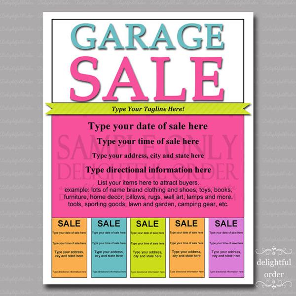 free garage sale flyers