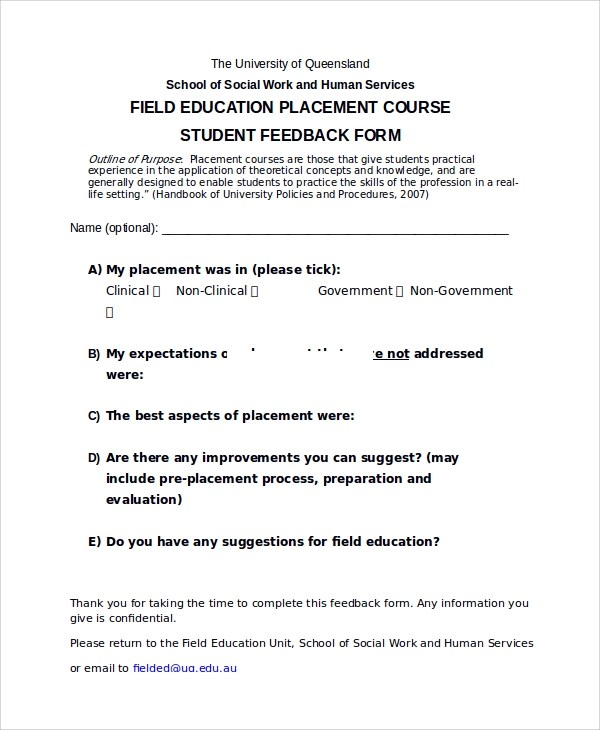 Sample Survey Forms Students | Sample Email Job Application