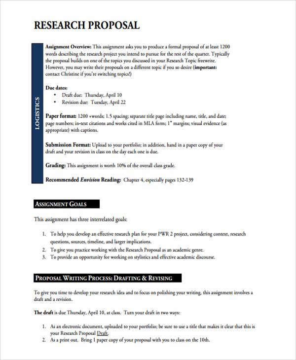 research proposal sample mla