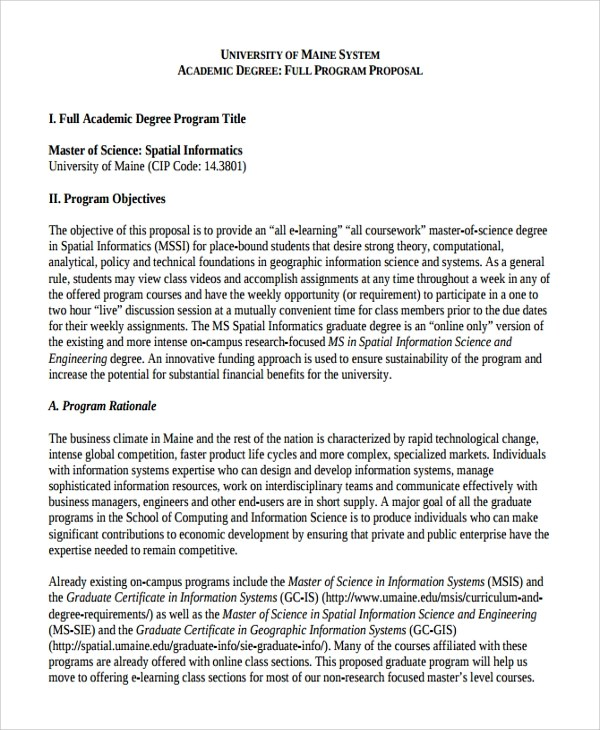 12 Academic Proposal Templates Sample Templates