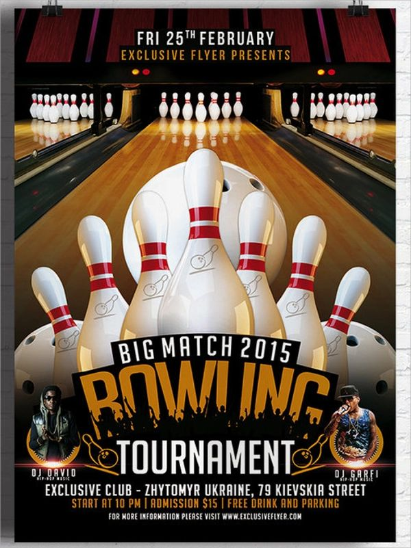 bowling invitations free template