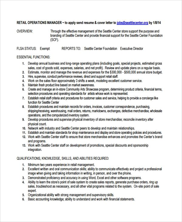 8 director of operations resume templates