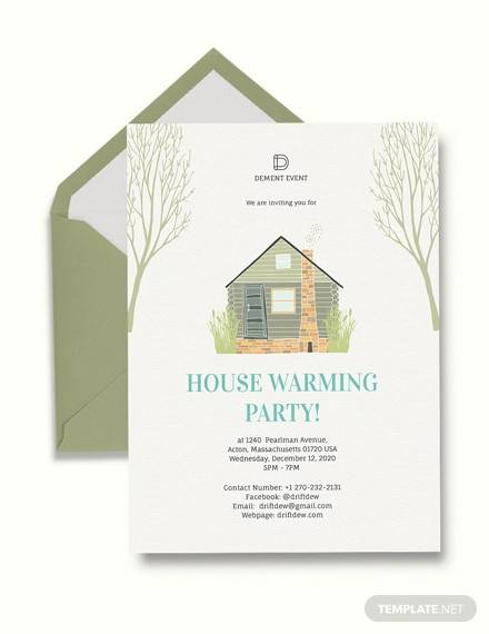15 Amazing Housewarming Invitation Templates Psd Vector