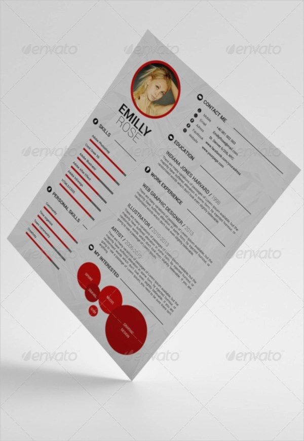 15 PSD Resume Templates  PSD Free Formats Download