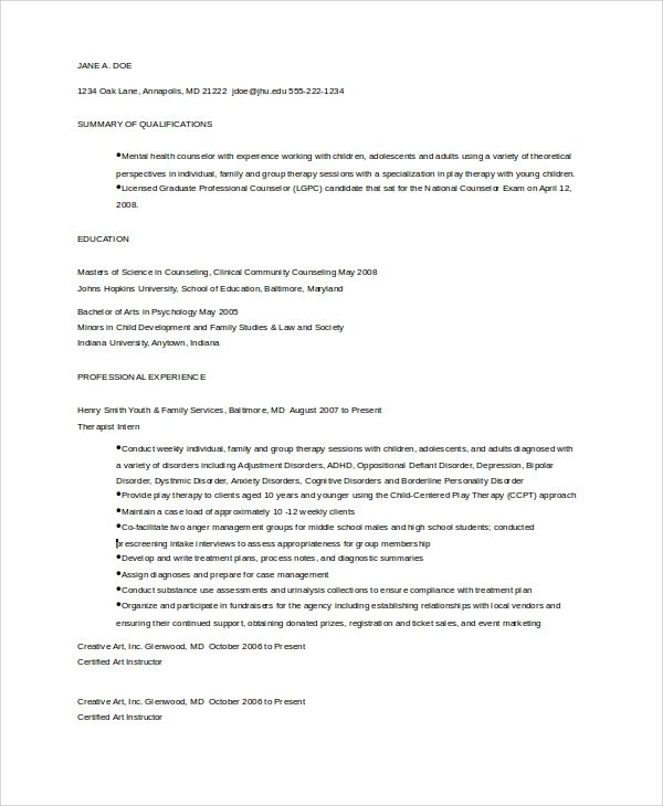 high school guidance counselor resume sample