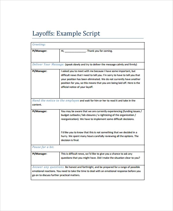 Reference Letter Layoff Sample Cv English Resume