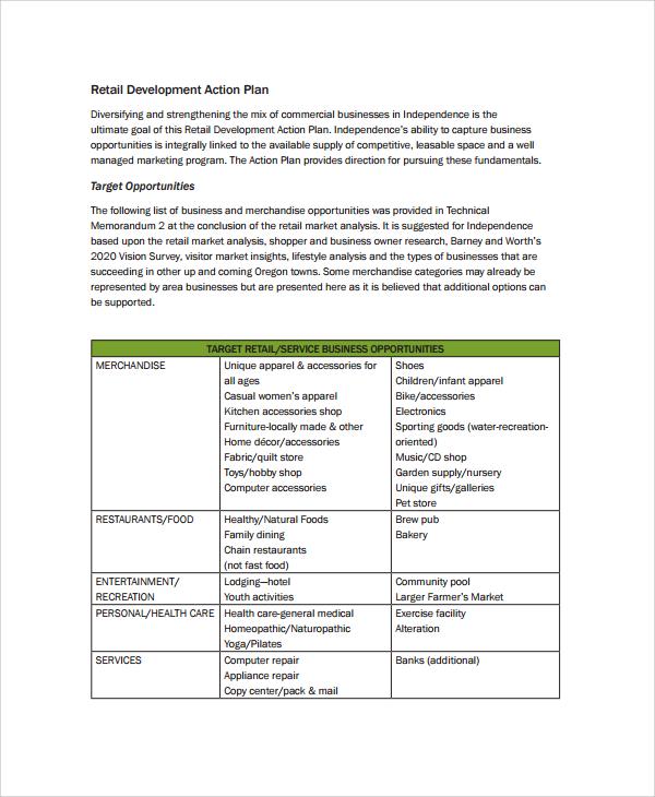 sample retail business plan pdf