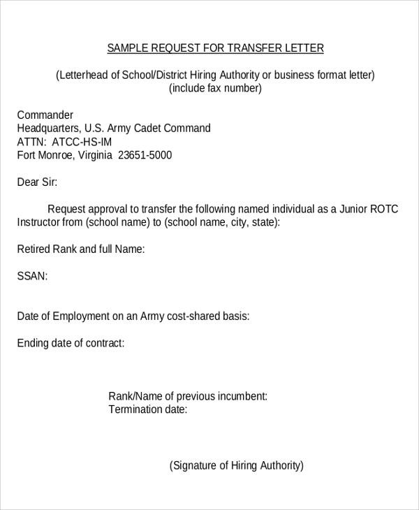 Sample Letter Insurance Policy Transfer   Best Collection Resume And