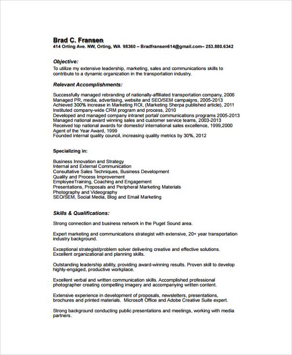 accomplishments in resume
