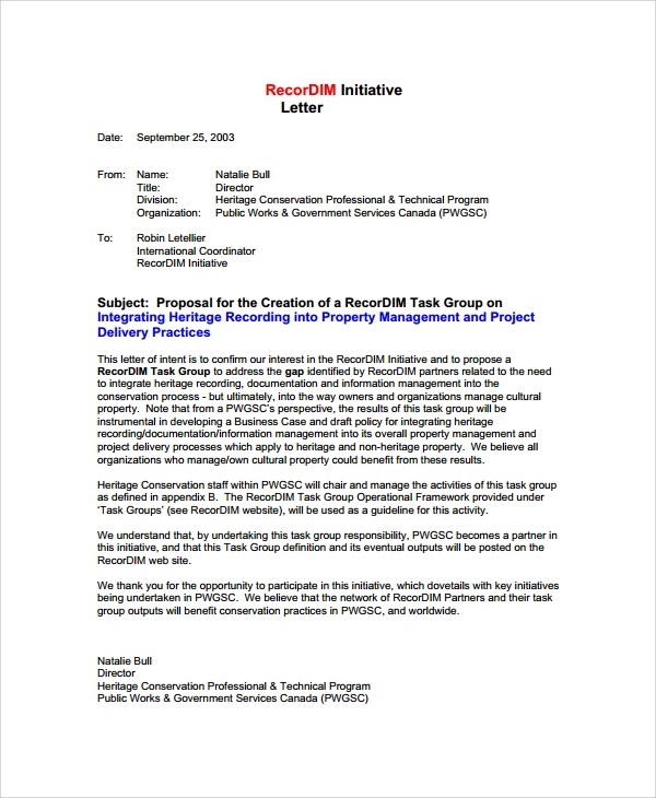 Sample Business Proposal Letter to Client  7 Documents
