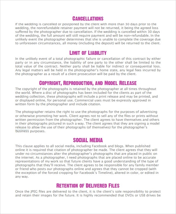 Sample Photography Business Plan  11 Documents in PDF