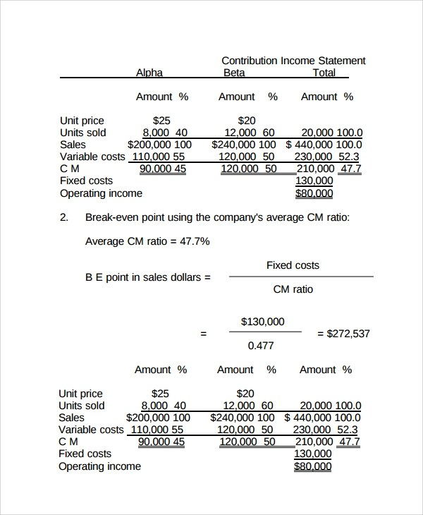 Sample Income Statement 23 Documents In PDF Word Excel