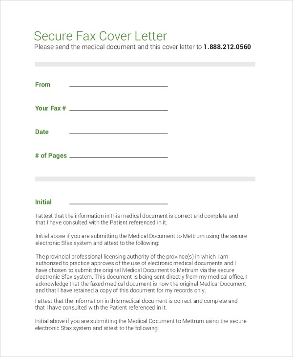 8 Sample Fax Cover Letters  PDF Word