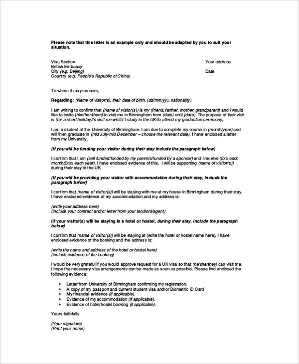 8+ Sample Visa Sponsorship Letters – PDF, DOC