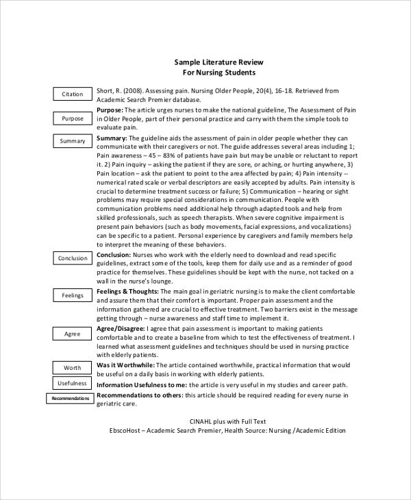essay ideas college sample literature review for software