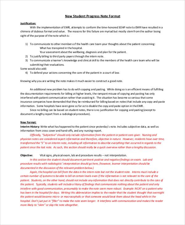 physician progress notes template