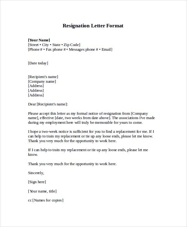 21 Letter Format Samples  Sample Templates