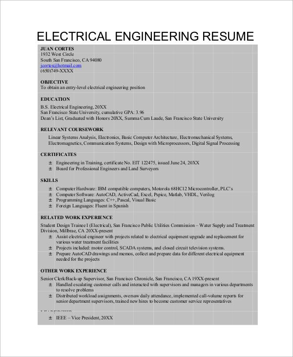 8 Professional Resume Samples  CV  Sample Templates