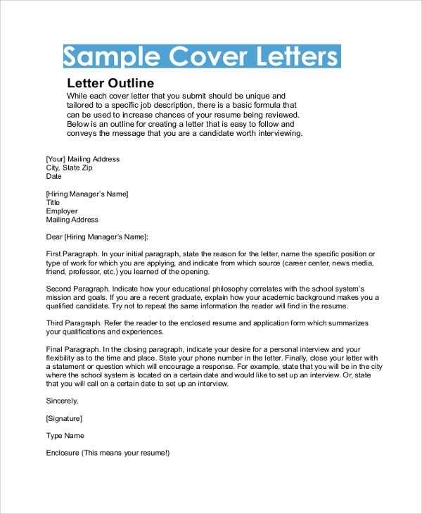 Example Cover Letter Resume
