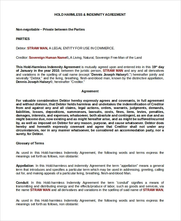 audit hold harmless letter template docoments ojazlink
