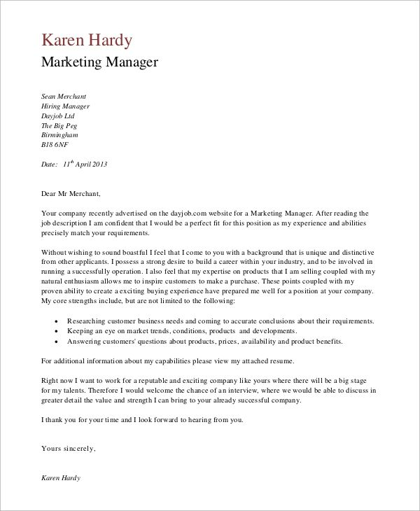 9 Best Cover Letter Samples Free Image On Your Keyword