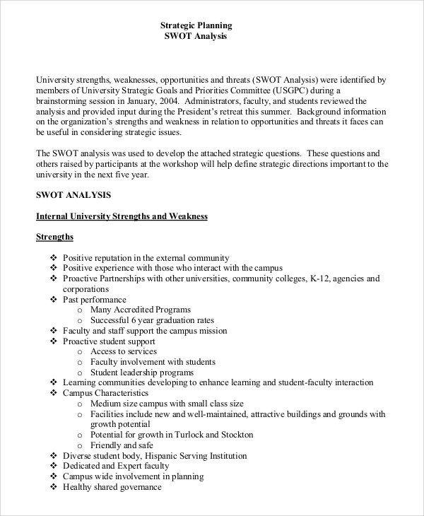 SWOT Analysis Example 16 Samples In PDF Word