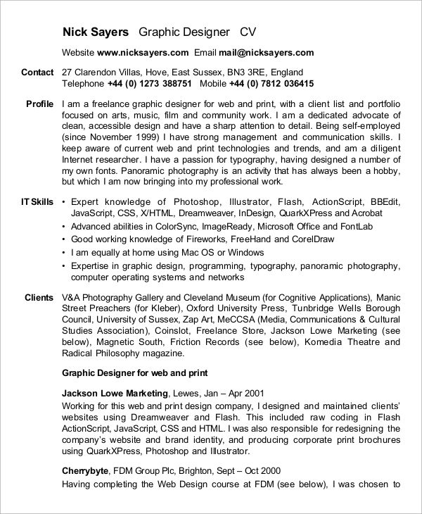 good graphic design resume objectives